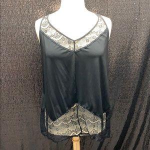 Black dressy lace top